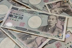 Banknote of Japanese Yen ¥10000. Money background with Japanese Yen Banknote ¥10000 Royalty Free Stock Photos