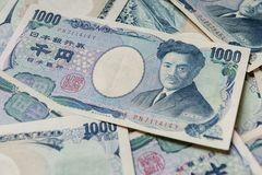 Banknote of Japanese Yen ¥1000. Money background with Japanese Yen Banknote ¥1000 Stock Photo