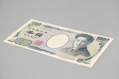 Banknote of the Japanese 1000 Yen Royalty Free Stock Photos