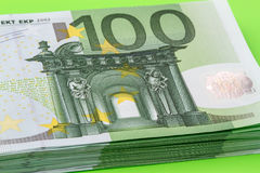 Banknote one hundred euros close up Royalty Free Stock Photography