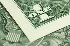 Banknote one US dollar Royalty Free Stock Photo