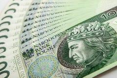 Banknote 100 PLN Stockfoto
