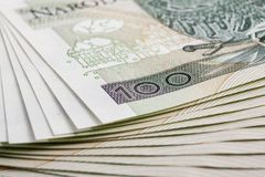Banknote 100 PLN Stock Photography