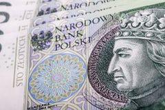 Banknote 100 PLN Royalty Free Stock Photo