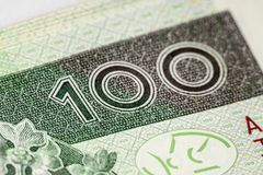 Banknote 100 PLN Royalty Free Stock Image
