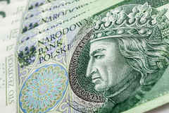 Banknote 100 PLN Royalty Free Stock Photos