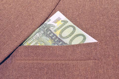 Banknote in a pocket Stock Photos
