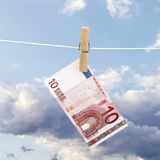 Banknote on a rope Stock Image