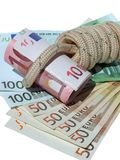 Banknote in running knot Royalty Free Stock Photos