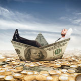 Banknote ship Stock Photography