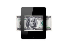 Banknote in Tablet Royalty Free Stock Images