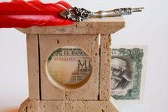 Banknote und Stift lizenzfreie stockfotografie