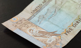 Banknote of the United Arab Emirates in five dirhams Stock Photography