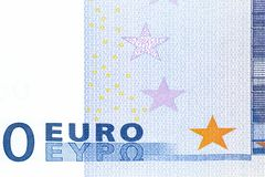 Banknote zero euro Royalty Free Stock Photography