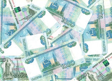 Banknoten 1000 Rubel. lizenzfreie stockfotografie