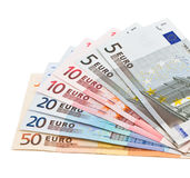 Banknoten als Fan Stockfoto