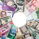Banknoten aus verschiedenen Ländern Stockbilder