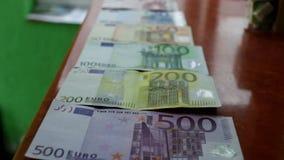 Banknoten aus verschiedenen Ländern stock footage