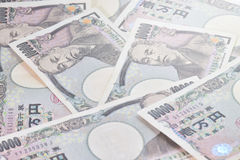 Banknoten der japanischen Yen Stockbilder