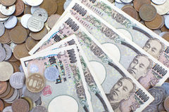 Banknoten der japanischen Yen Lizenzfreie Stockfotos