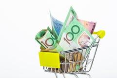 Banknoten des australischen Dollars Stockbild