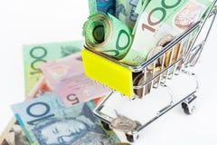 Banknoten des australischen Dollars Stockfotografie