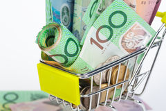 Banknoten des australischen Dollars Lizenzfreie Stockfotos