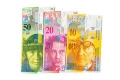 Banknoten einer Stapel Schweizer Franken Währung Lizenzfreies Stockbild