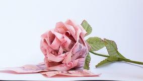 Banknoten Rose Stockfotografie