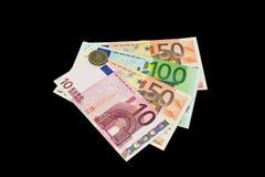 Banknoten und Geldbörsen. Stockfotos
