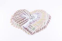 Banknoten thailändischen Baht 1000 stockfotos