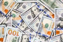 Banknoten, US-Dollar Stockfoto