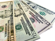 Banknoten - US-Dollars Stockfoto