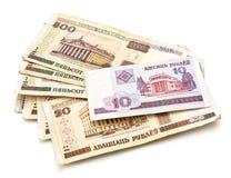 Banknoten von Belarus Stockfoto