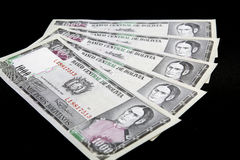 Banknoten von Bolivien stockfotos