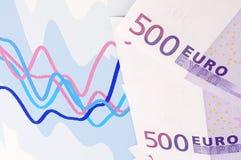 Banknoten von Euro. Stockfoto