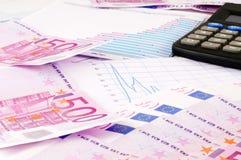 Banknoten von Euro Stockbild