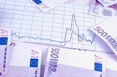 Banknoten von Euro Stockfotografie
