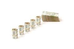 Banknoten von im Geschäft zu verwenden Polen, Lizenzfreie Stockfotos