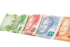 Banknoten von Südafrika Stockfotos