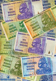 Banknoten - Zimbabwe - Hyperinflation Lizenzfreie Stockbilder