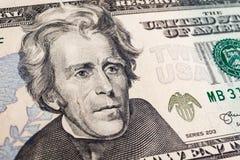 Banknotenhintergrund, amerikanischer Dollar, Finanzkonzept Stockfotografie