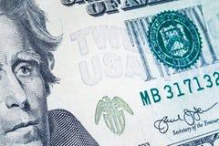 Banknotenhintergrund, amerikanischer Dollar, Finanzkonzeptthema Stockfotos