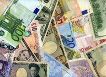 Banknotenhintergrund der harten Währung Stockbilder
