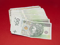 Banknotes 100 PLN. Output of the crisis. Poland currency. Polish money Stock Photo