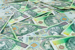 Banknotes of 100 PLN (polish zloty) Stock Images