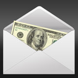Banknotes. Offered in Envelope. High resolution image.  3d rendered illustration Royalty Free Stock Images