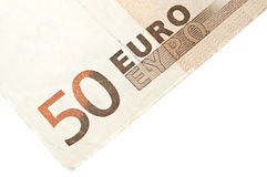 Banknotes. Close up to euro banknotes Stock Photography