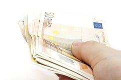 Banknotes. Close up to euro banknotes stock photos