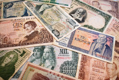 Banknotes. Bank notes collection. Some spanish banknotes They are old and only useful for collecting royalty free stock photography